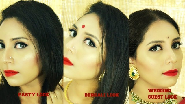 Bengali Eye Makeup Transformation From Party To Bengali To Indian Wedding Guest Shadi