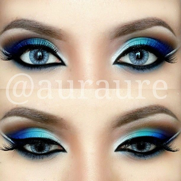 Blue Green Eyes Makeup Blue Green Silver Eye Makeup Pictures Photos And Images For