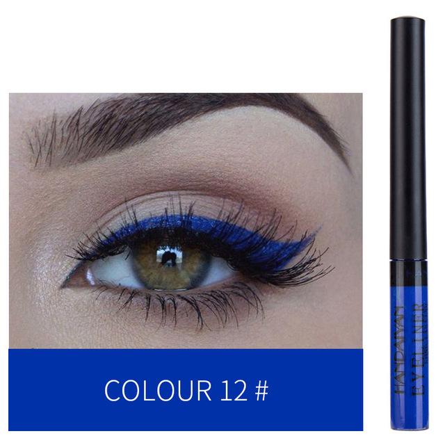 Blue Green Eyes Makeup Colorful Eyeliner Pen Eyes Makeup Waterproof Blue Green Eye