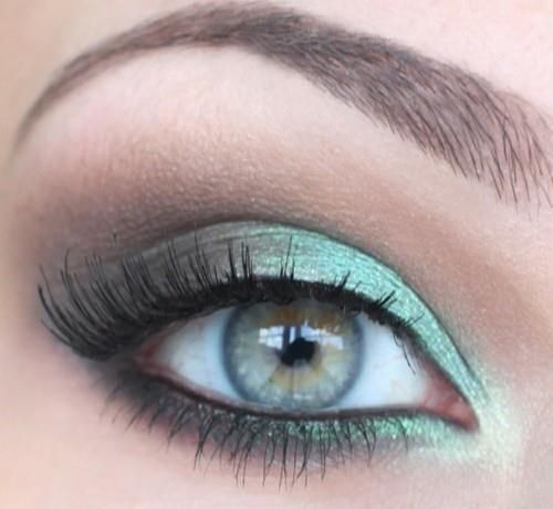 Blue Green Eyes Makeup Eyeshadow Love This Blue Green Eye Makeup Pinterest Green Eyeshadow