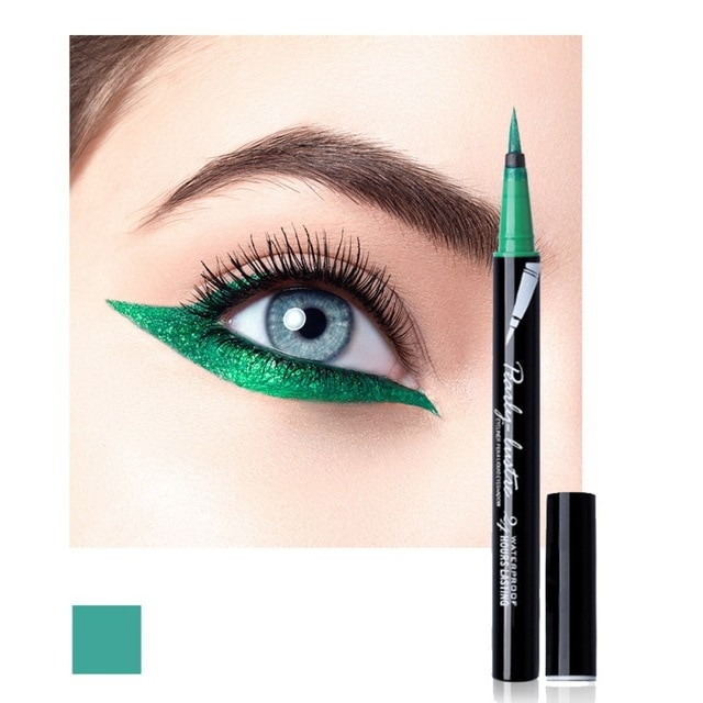 Blue Green Eyes Makeup Waterproof 8 Colors Blue Green Liquid Eyeliner Maquiagem Easy To