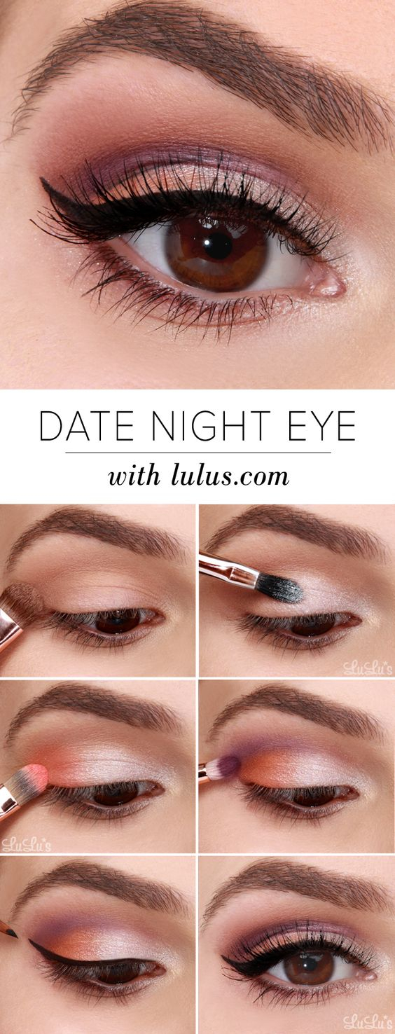 Brown And Purple Eye Makeup 10 Easy Step Step Makeup Tutorials For Brown Eyes