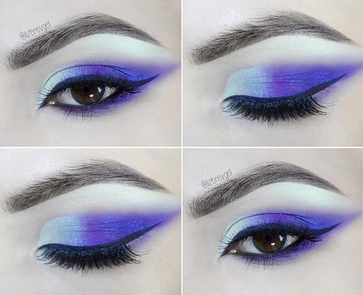 Brown And Purple Eye Makeup Deep Purple Smoke Makeup Tutorial For Brown Eyes