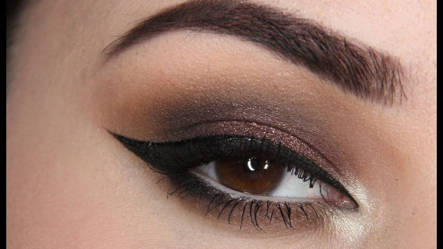 Brown And Purple Eye Makeup Dramatic Brown Purple Smokey Eye Makeup W Winged Eyeliner