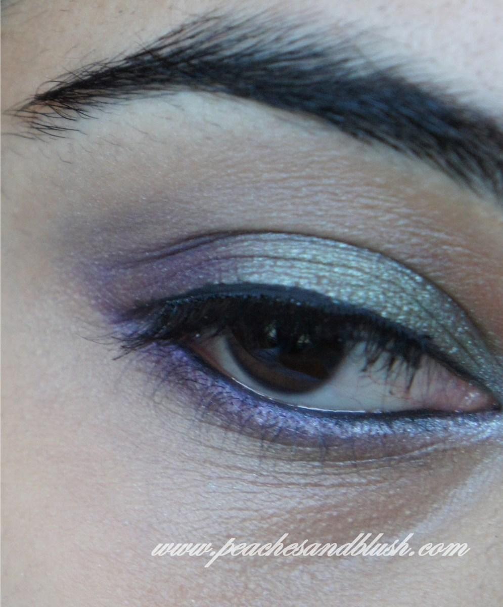 Brown And Purple Eye Makeup Green Purple Eye Makeup Eotd Tutorial Peachesandblush