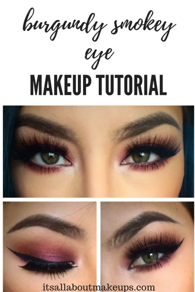 Burgundy Eye Makeup Best Ideas For Makeup Tutorials Check This Super Simple Yet