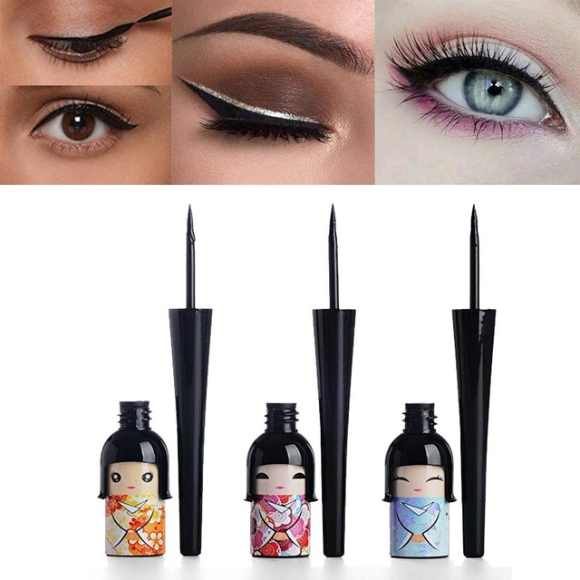 Doll Makeup Eyes Lucky Doll Liquid Eyeliner Waterproof Quick Drying Makeup Eye Liner