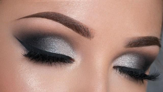 Eye Makeup Demo Night Out Makeup Tutorial Black Silver Smokey Eye Youtube
