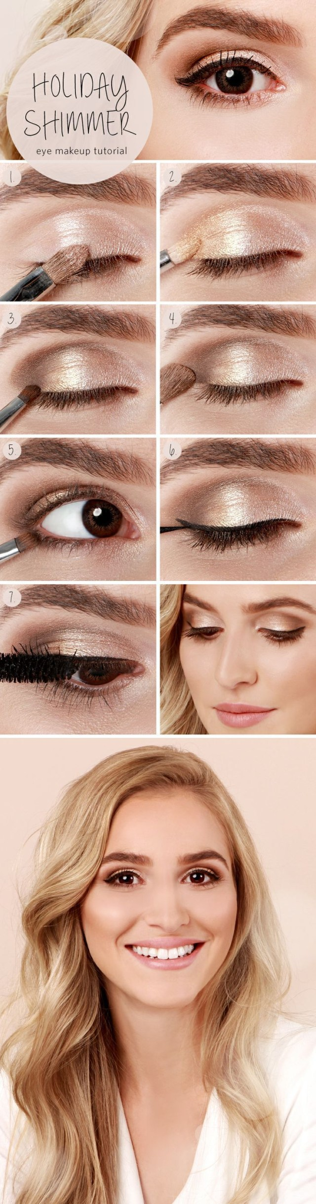 Eye Makeup Evening Step Step Eye Makeup Tutorials