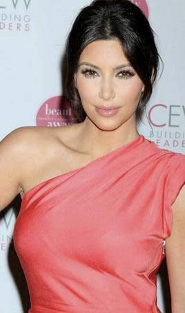 Eye Makeup For Coral Dress Get The Look Kim Kardashian At The Cew Beauty Awards Beautiful