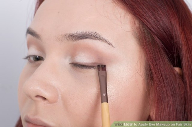 Eye Makeup For Pale Skin How To Apply Eye Makeup On Fair Skin 9 Steps With Pictures