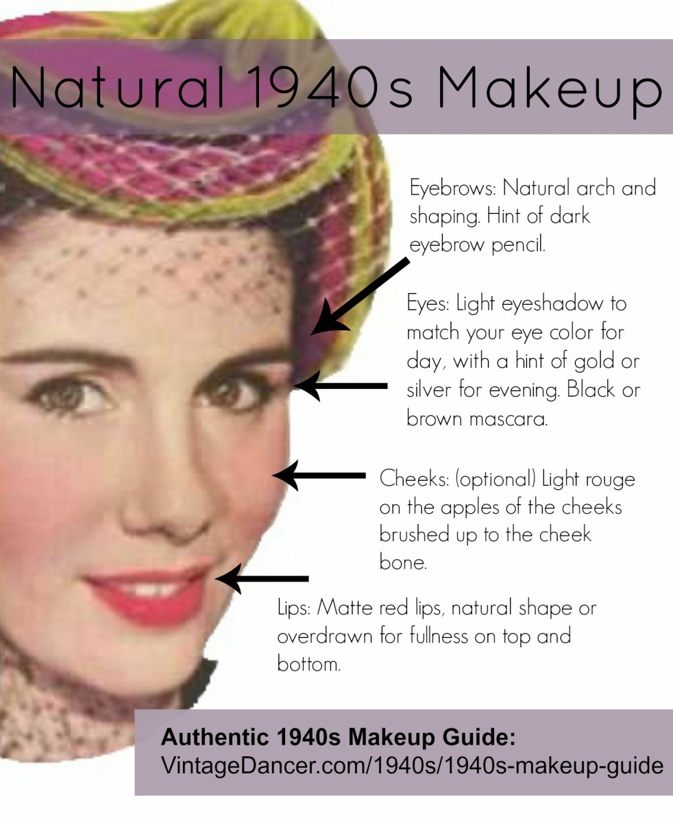 Eye Makeup Over 40 Authentic 1940s Makeup History And Tutorial