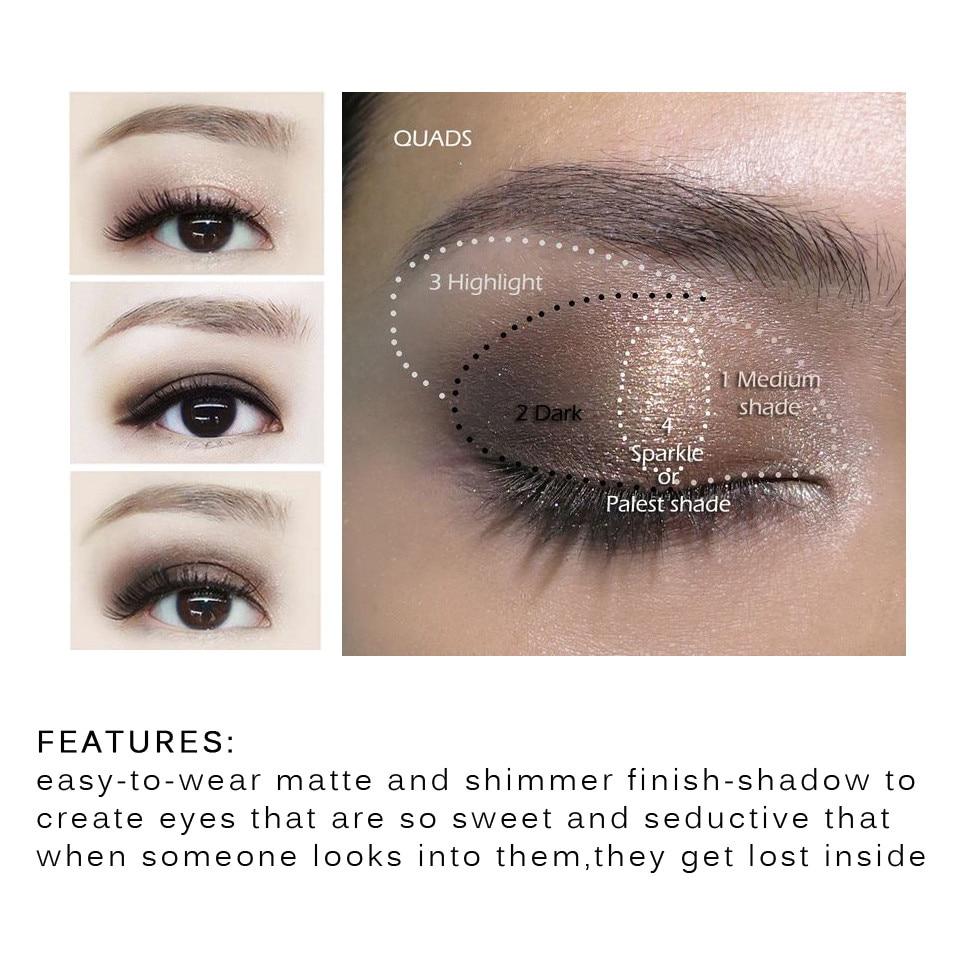 Eye Makeup Over 40 Popfeel 40 Color Matte Eyeshadow Pallete Make Up Earth Palette Eye