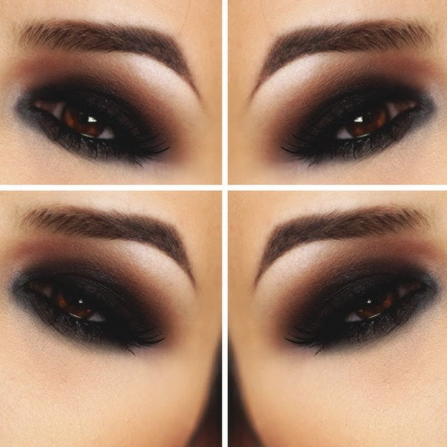 Eye Makeup Smokey Brown Black And Brown Smokey Eyes Rhea V Preen