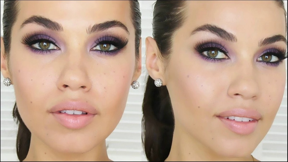 Eye Makeup Tutorial For Hazel Eyes Purple Smokey Eye Makeup Is Best For Hazel Eyes Pop How To Make At