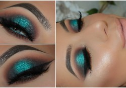 Eye Makeup With Turquoise Dress Halo Teal Pop Of Colour Smokey Eye Amys Makeup Box Youtube