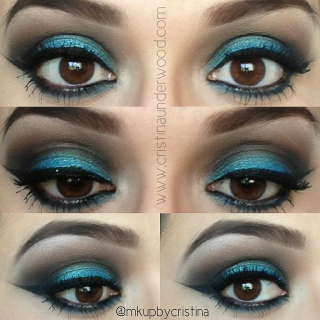 Eye Makeup With Turquoise Dress Turquoise Reverse Smokey Eye Brow Tutorial The Beauty Room Live