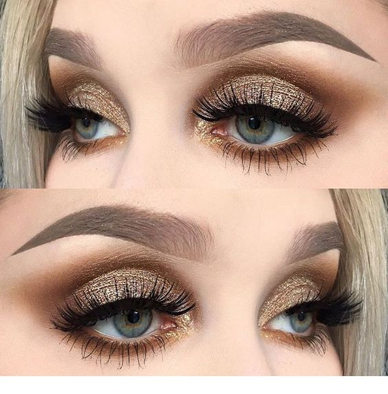 Gold And Smokey Eye Makeup Awesome Golden Smokey Eye Makeup With A Pop Of Gold Miladies