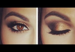 Gold And Smokey Eye Makeup Gold Smokey Eye Tutorial Eye Makeup Tutorial Teni Panosian Youtube