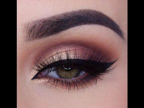 Gold And Smokey Eye Makeup Rose Gold Smokey Eye Makeup Tutorial Morphe Brushes Palette Youtube