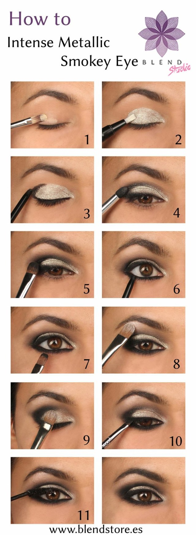 Gold Eye Makeup Tutorial 15 Smokey Eye Tutorials Step Step Guide To Perfect Hollywood Makeup