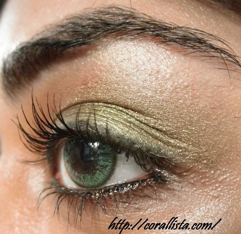 Gold Makeup For Green Eyes Gold Green Eye Makeup With Avon Mango Mania Lipstick Fotd And