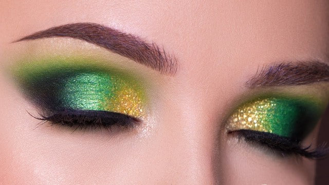 Gold Makeup For Green Eyes Green And Gold Smokey Eye Makeup Tutorial Fall Makeup Youtube