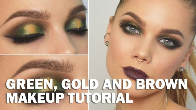 Gold Makeup For Green Eyes Green Gold And Brown Makeup Look Linda Hallberg Makeup Tutorials