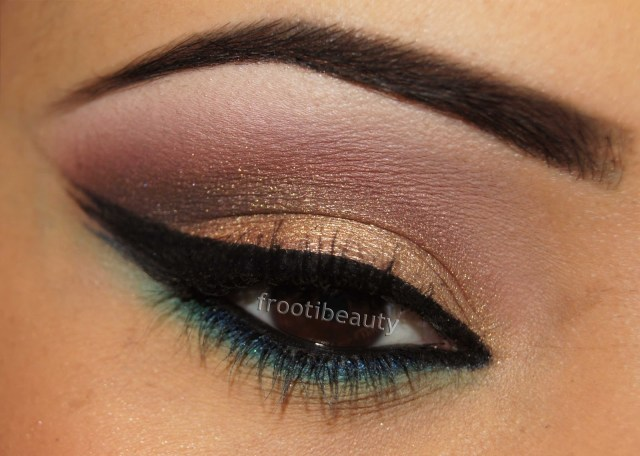 Gold Makeup For Green Eyes Safiyah Tasneem Fff Gold Maroon With Green Blue Makeup Look