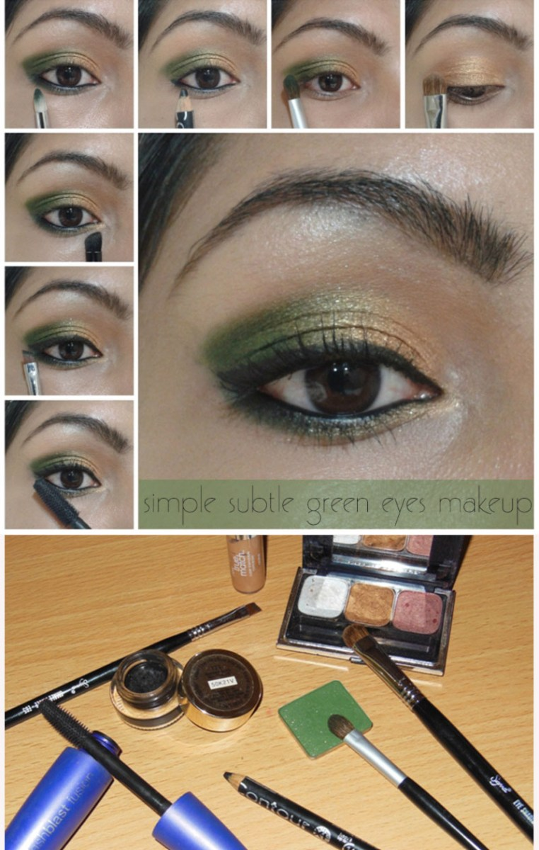 Gold Makeup For Green Eyes Simple Subtle Green Gold Spring Makeup Stylefrizz Photo Gallery