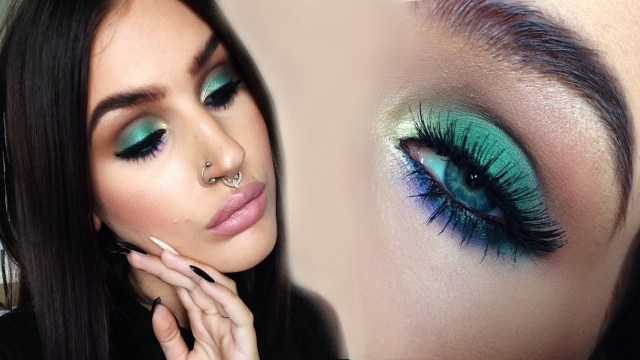 Gold Makeup For Green Eyes Soft Colorful Smokey Eyes Green Gold And Purple Makeup Tutorial