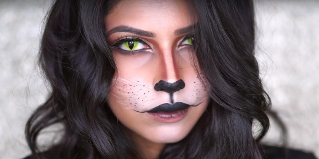 Halloween Cat Eye Makeup Halloween Cat Makeup Tutorial Step Step Cat Makeup