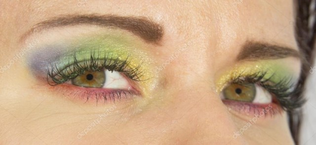 Hippie Eye Makeup Eyes Colored As Beautiful Rainbow Hippy Fashionable Makeup Style