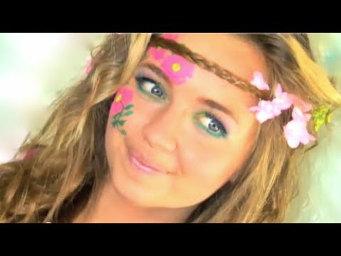 Hippie Eye Makeup Hippie Hair Makeup Tutorial In Under 2 Minutes I Naturesknockout