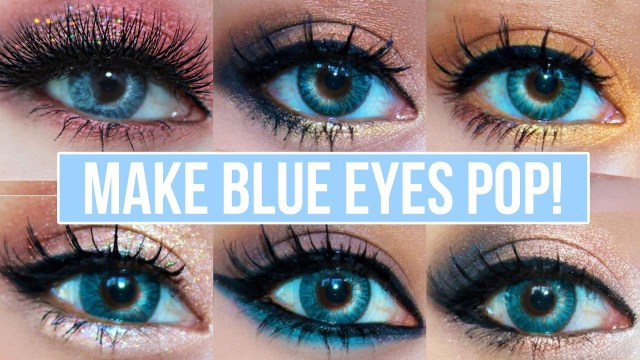 Homecoming Makeup For Blue Eyes 5 Makeup Looks That Make Blue Eyes Pop Blue Eyes Makeup Tutorial
