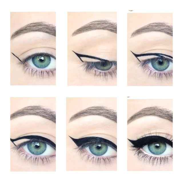 How Do You Do Cat Eye Makeup Steps On How To Do A Perfect Cat Eye On We Heart It