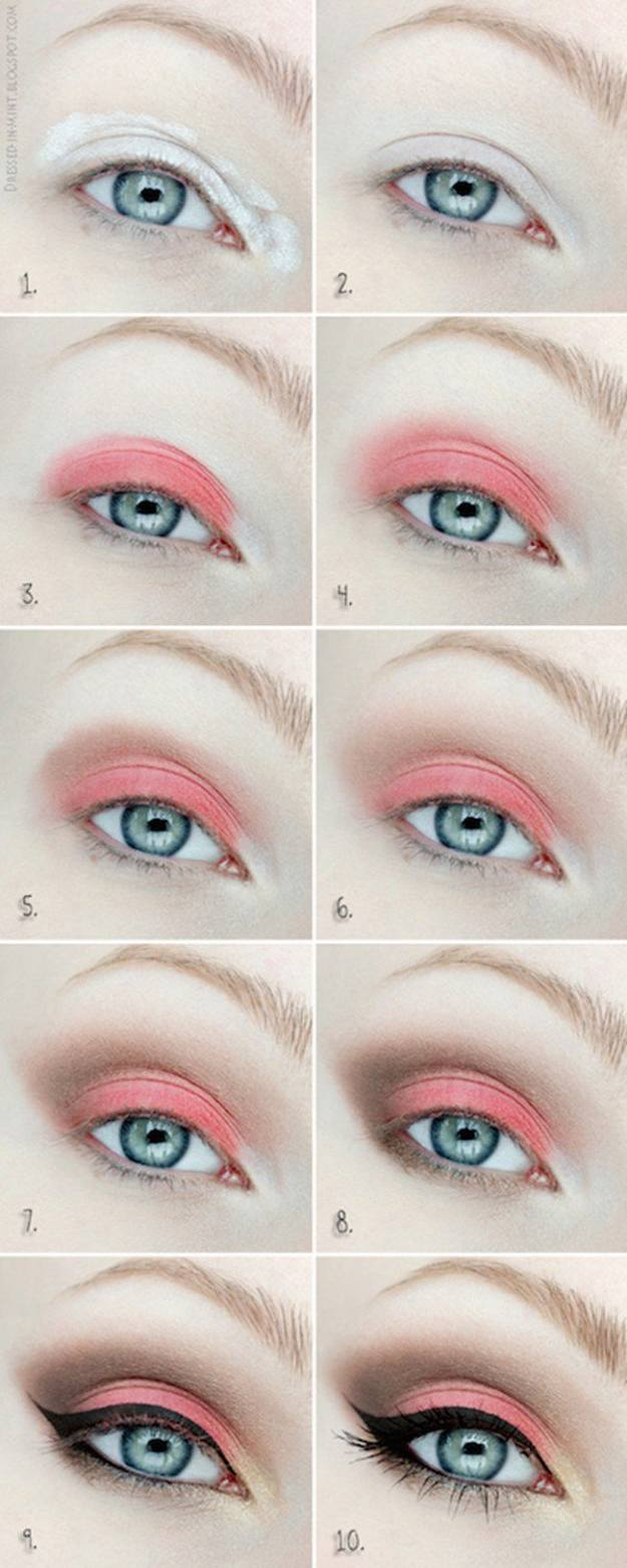 How To Do Makeup For Blue Eyes Colorful Eyeshadow Tutorials For Blue Eyes Makeup Tutorials