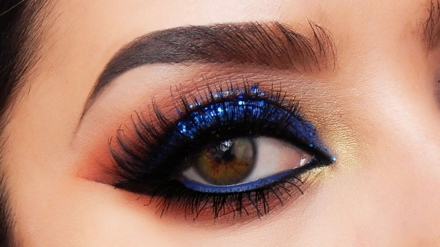 How To Do Makeup For Blue Eyes Electric Blue Smokey Eye Makeup Tutorial Youtube
