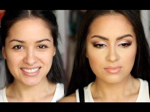 How To Put Eye Makeup On Small Eyes Full Face Prom Makeup Look For Small Eyes Youtube