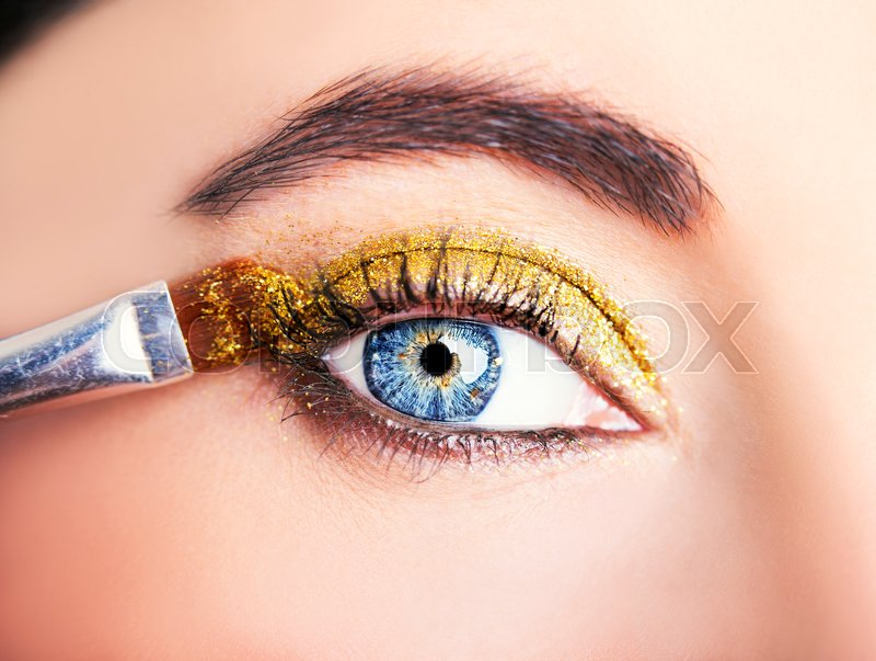 Images Of Beautiful Eyes Makeup Eye Makeup Beautiful Eyes Glitter Stock Photo Colourbox