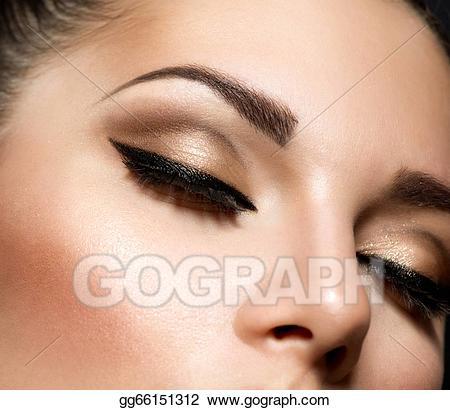 Images Of Beautiful Eyes Makeup Stock Photo Eye Makeup Beautiful Eyes Retro Style Make Up Stock