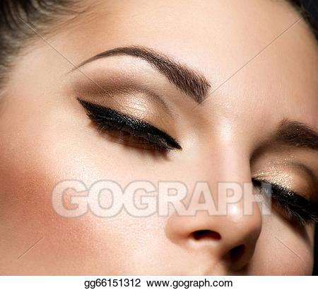 Images Of Beautiful Eyes Makeup Stock Photo Eye Makeup Beautiful Eyes Retro Style Make Up Stock