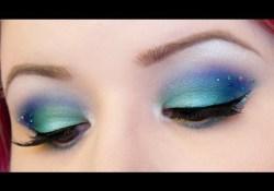 Little Mermaid Eye Makeup Mermaid Tail Inspired Makeup Tutorial Youtube