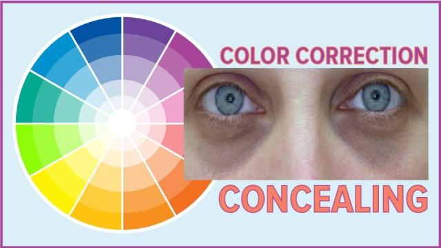 Makeup Colour Wheel For Eyes Color Correction Concealer
