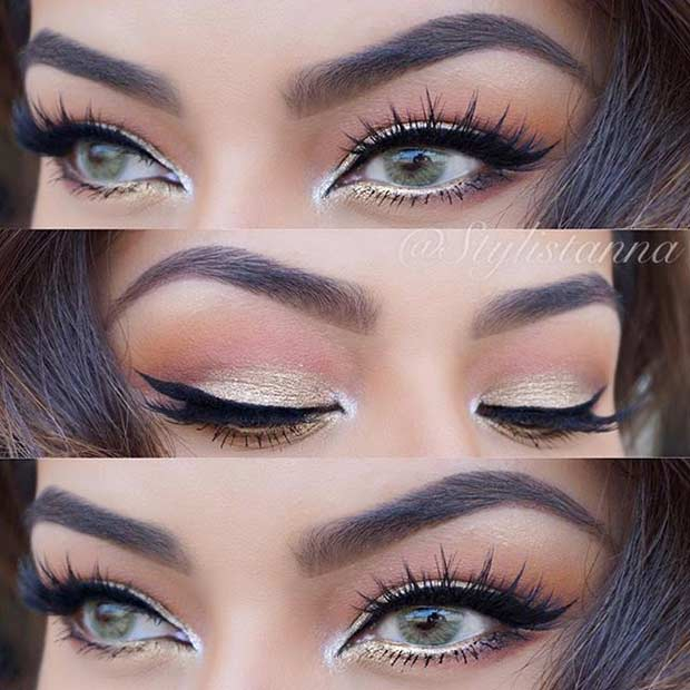 Makeup For Greenish Blue Eyes 31 Pretty Eye Makeup Looks For Green Eyes Stayglam
