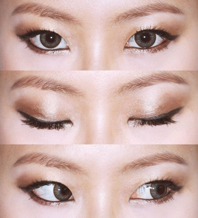 Makeup For Small Asian Eyes Korean Eye Makeup For Monolid And Double Eyelid Korean Site