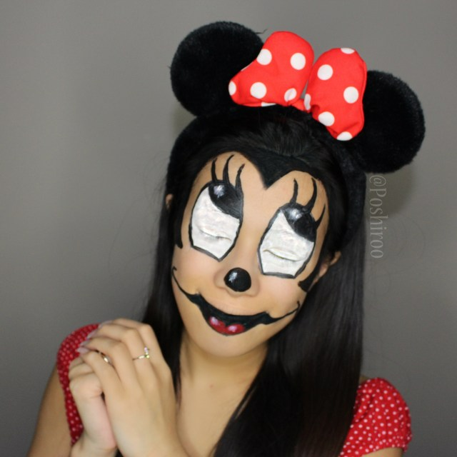 Minnie Mouse Eye Makeup Creepy Or Cute Minnie Mouse Halloween Makeup Imgur