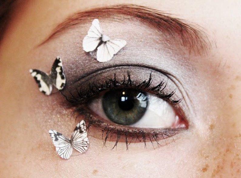 Monarch Butterfly Eye Makeup 3pcs Butterfly Eye Makeup Stickers Beauty Product Accessory Etsy