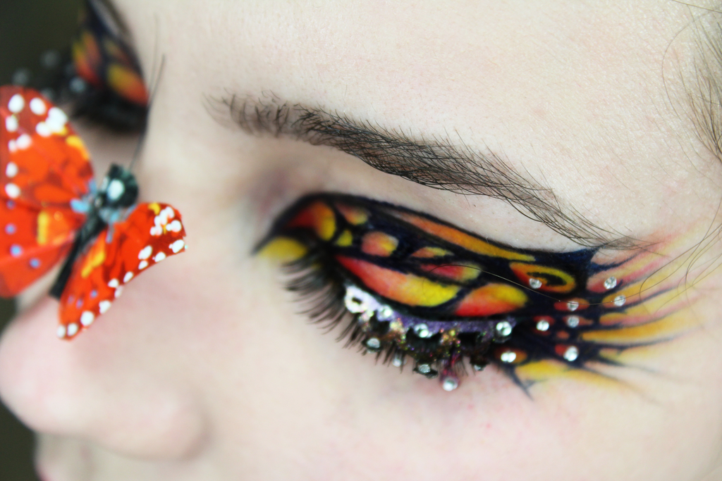 Monarch Butterfly Eye Makeup Monarch Butterfly Makeup Dresses For Woman