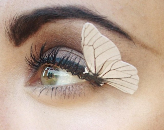 Monarch Butterfly Eye Makeup Worn On Abcs The View Monarch Butterfly Eyelashes Monarch Etsy